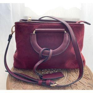 Sole Society burgundy crossbody bag